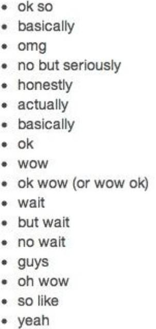 how i start my sentences