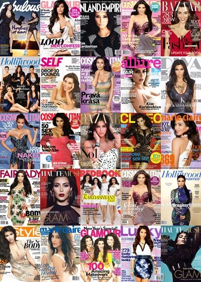 @KimKardashian's 2011 magazine covers - http://t.co/se1MCkKm