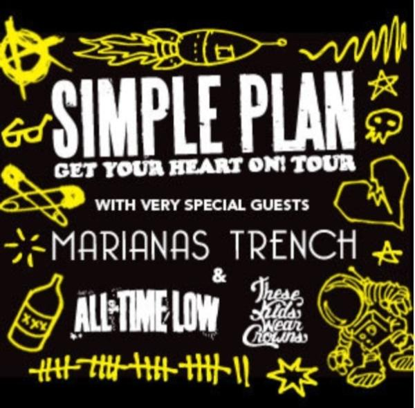 #simpleplan #marianastrench #alltimelow #thesekidswearcrowns #GetYourHeartOn   Retweet this if you are excited!! http://t.co/8e8Pvm25