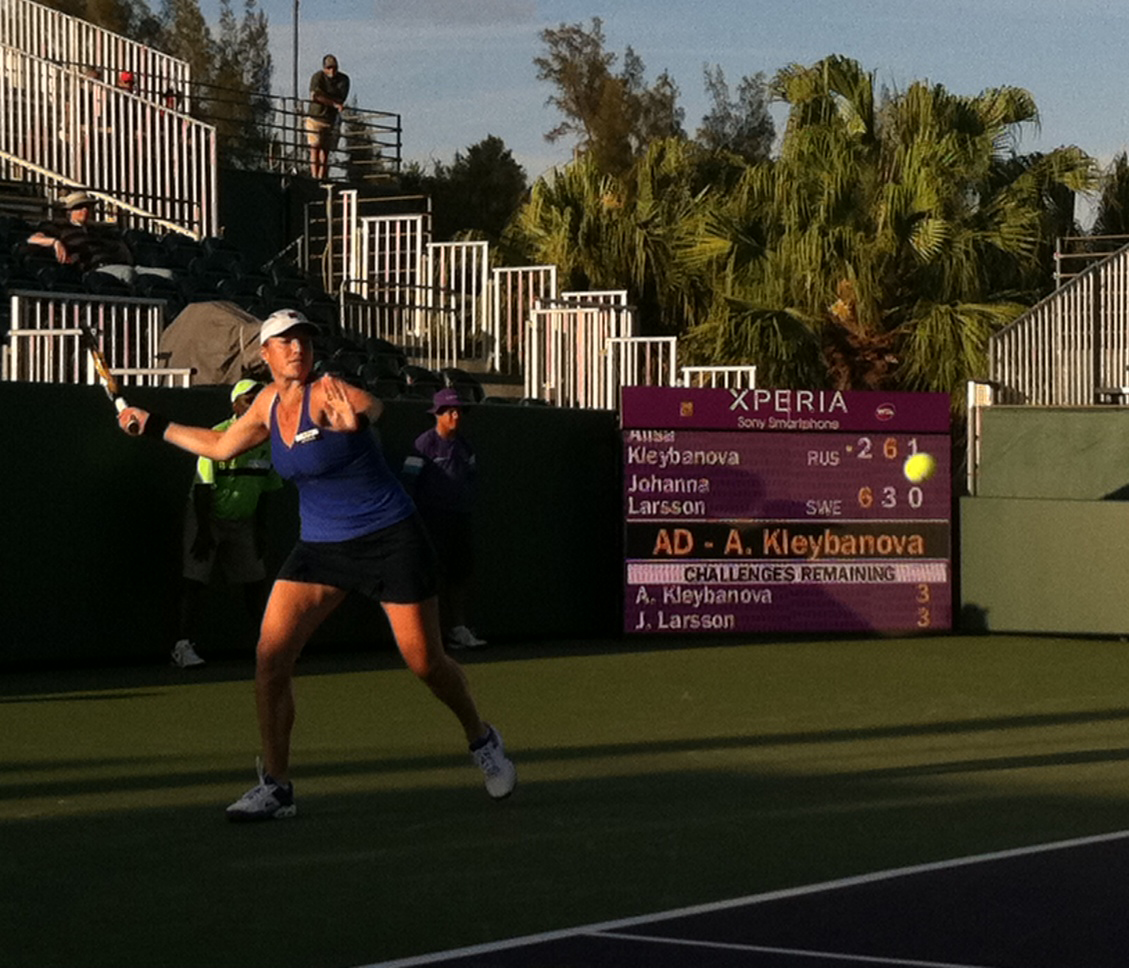 RT @SEOpen: Heroic comeback at #SEOpen. @akleybanova wins her first match since beating cancer. #Tennis #WTA http://t.co/mHCDYtwx