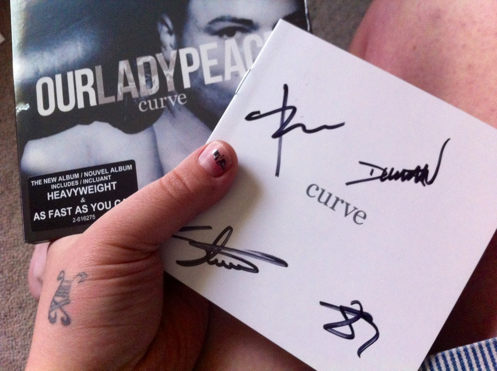 #Curve came! It's autographed by @OurLadyPeace! I'm so stoked! http://t.co/lAhTYfcN
