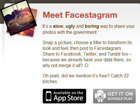 RT @PDTalkinTech: #facegram is trending worldwide, I prefer my version #facestagram >> http://t.co/UpRsBM4u