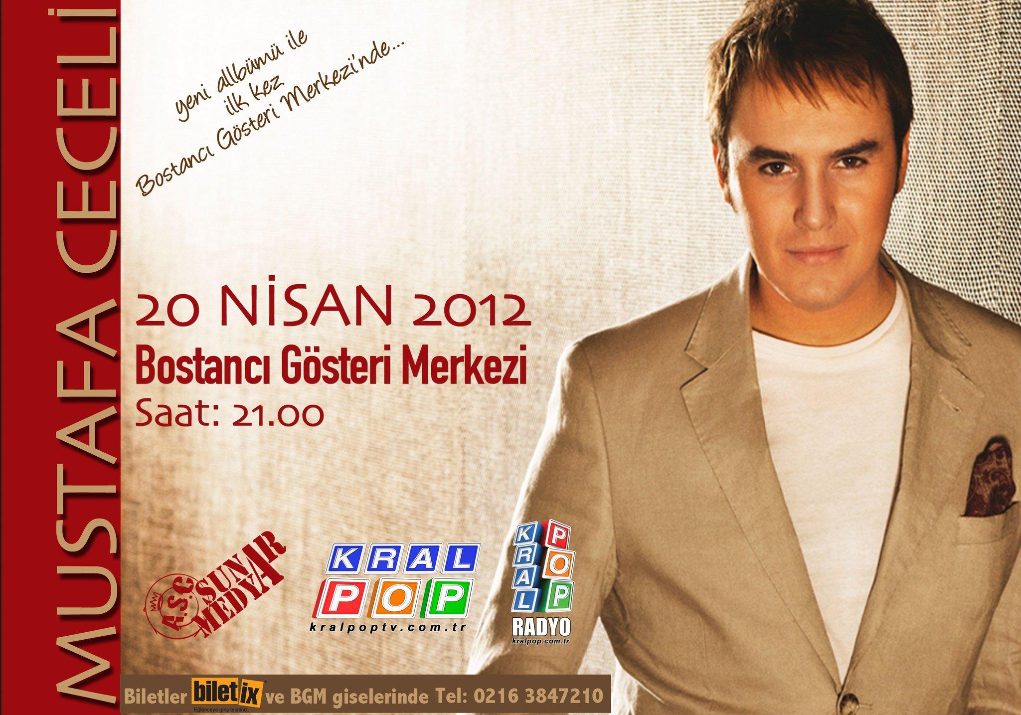 Mustafa Ceceli, yeni albümüyle ilk kez 20 Nisan cuma akşamı Bostancı Gösteri Merkezi'nde! Medya sponsoru Kral Pop! http://t.co/cW86ymHW
