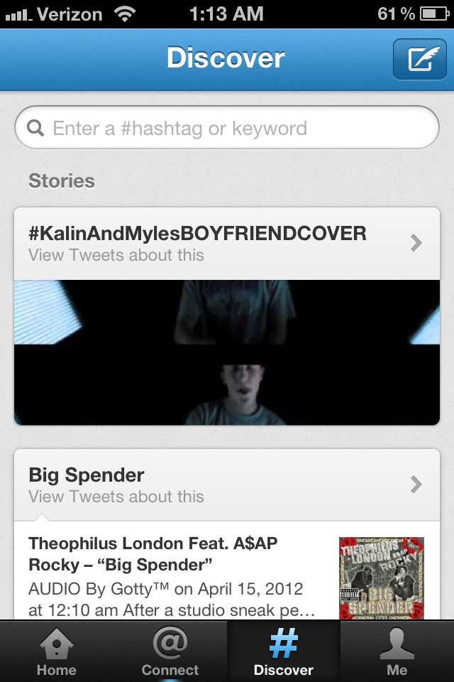 So proud of my boys @yourboymyles @KalinWhite trending and on the stories page. http://t.co/NCufLl5P
