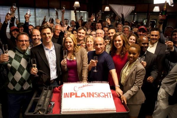 On the week of the finale, the cast & crew of #InPlainSight would like to toast to the fans! RT to toast with us. http://t.co/E24RZgLr