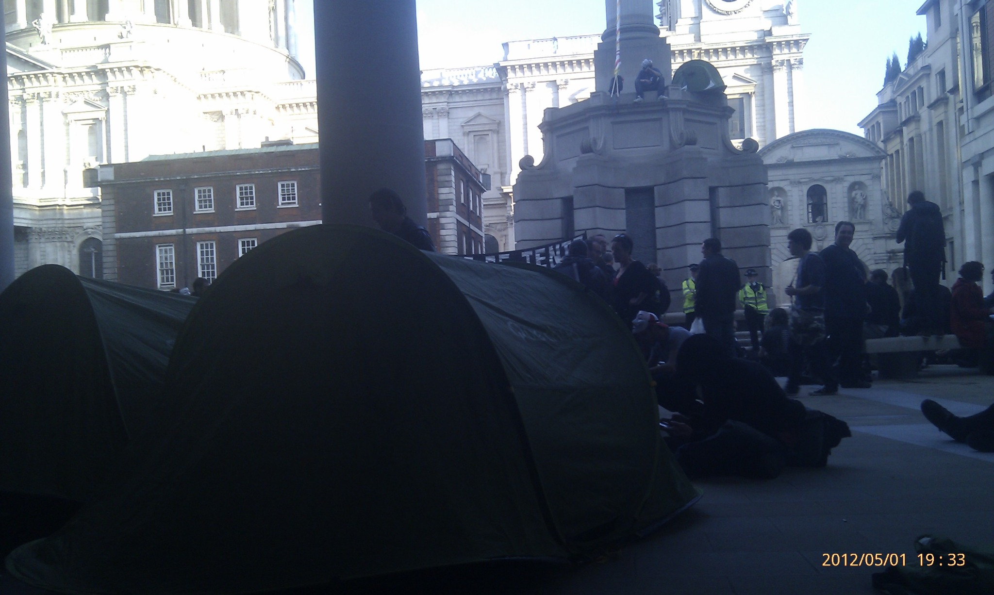 London Stock Exchange finally occupied! Come down! Bring a tent! #ows #mayday #occupymay http://t.co/iSPAl16h