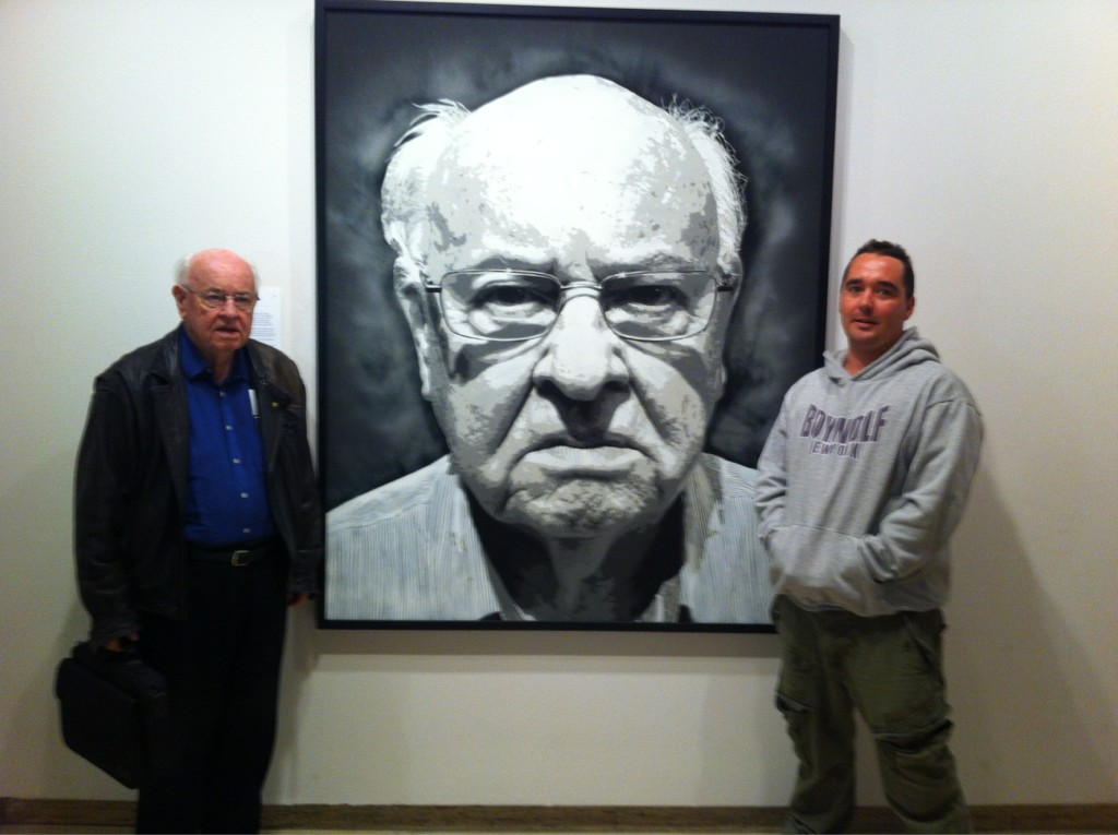 Art imitates life at #artafterhours - Father Bob, Luke Cornish and the famous portrait. http://t.co/mGF7S1yM