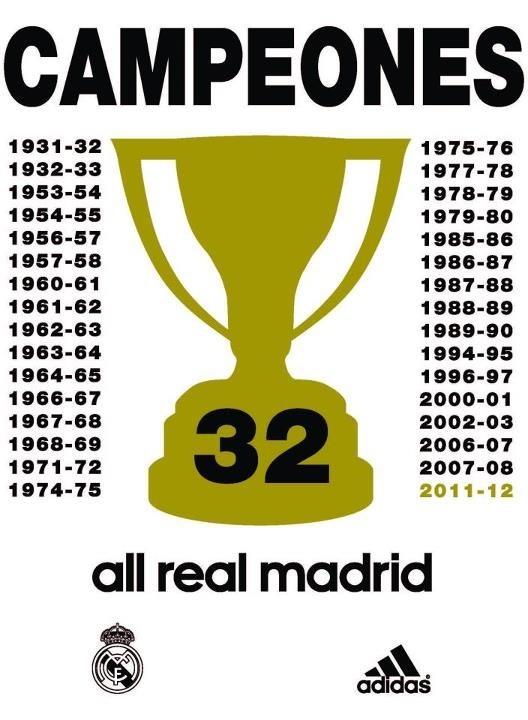 solo los equipos grandes tiene 32 Ligas Oe Oe Oe Hala Madrid! #aporla32  :D http://t.co/t5o0fjAb