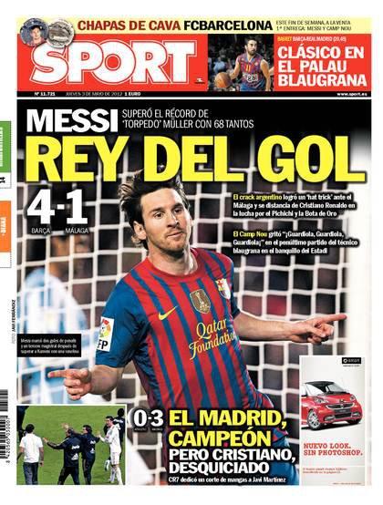 Un Campeón de Liga que bate todo tipos de récords merece esta portada? #PutosPeriodicosCules http://t.co/zAYo2F5j