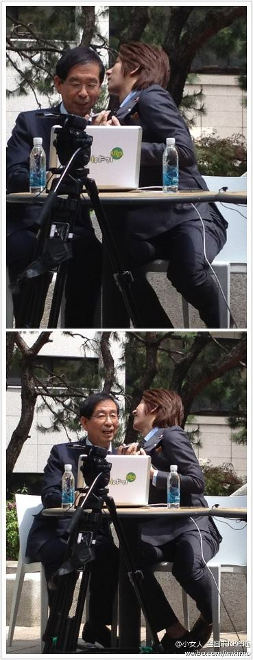 120503 #WosoonTV what is Heechul doing with the major xD (cr: 小女人_金圆求RP降临) via HeechulSJFacts http://t.co/4zjhS4gK