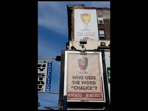 Hilarious. Clever billboard placement allows Newcastle to talk sh*t to Stella. http://t.co/QhB1Y5ro