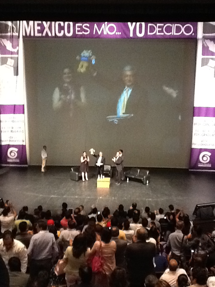 モ@PRDmexico: Concluye evento en #ITESMConAMLO al grito de Presidente http://t.co/EtV9G6iFヤ buen■sima la conferencia por radio tec!