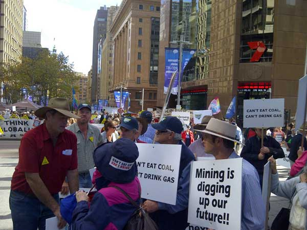 RT @7NewsSydney: Coal Seam Gas protesters congregating outside 7News @ Martin Place #csg #nswpol http://t.co/mx700JcS