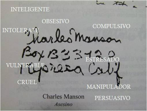 GRAFOLOGIA DE CHARLES MANSON ,MANIPULADOR, CONSUMO DE SUSTANCIAS, PROBLEMAS DE CONTROL DE IMPULSOS. psicopatia. http://t.co/RzReFE1E