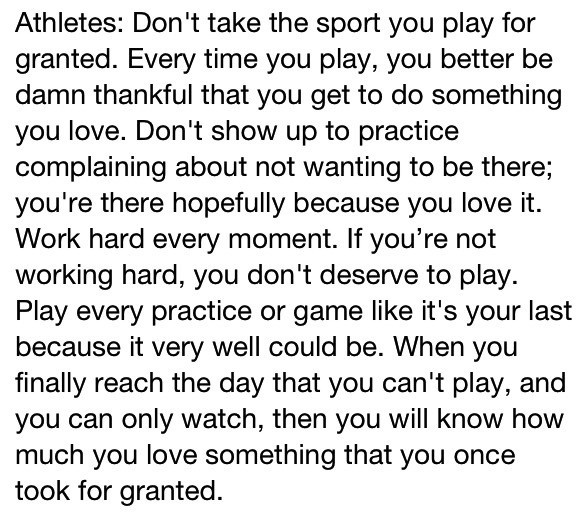RT to my Daddy モ@itsMichaelJ: All Athletes should read this... http://t.co/KG9J3j9vヤ