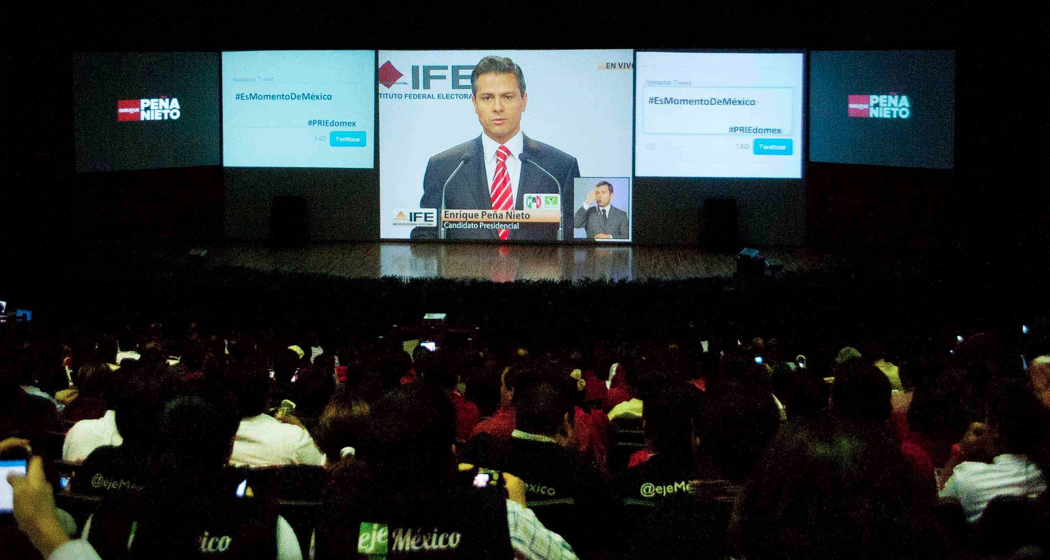 RT @PRI_EDOMEX: As■ se vivi el debate en el CDE del PRI Estado de M←xico. #YoViAEPNPresidente http://t.co/gVvR3N97