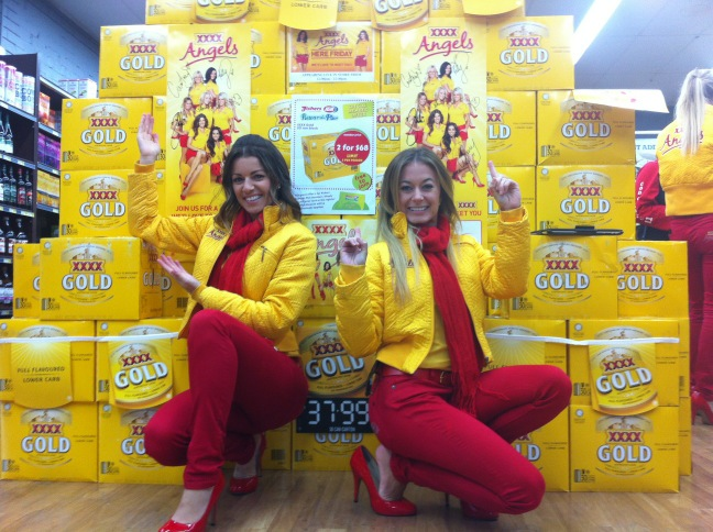 Checkout this awesome mountain of XXXX GOLD we found at Fishers IGA Red Cliffs!!! #xxxxangels http://t.co/ctykiwDi