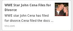 Aww! @JohnCena files for divorce. :O http://t.co/Rl3aATId