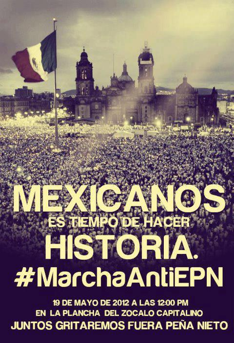 Marcha anti EPN 19 mayo 12:00 PM http://t.co/yqzNmN12