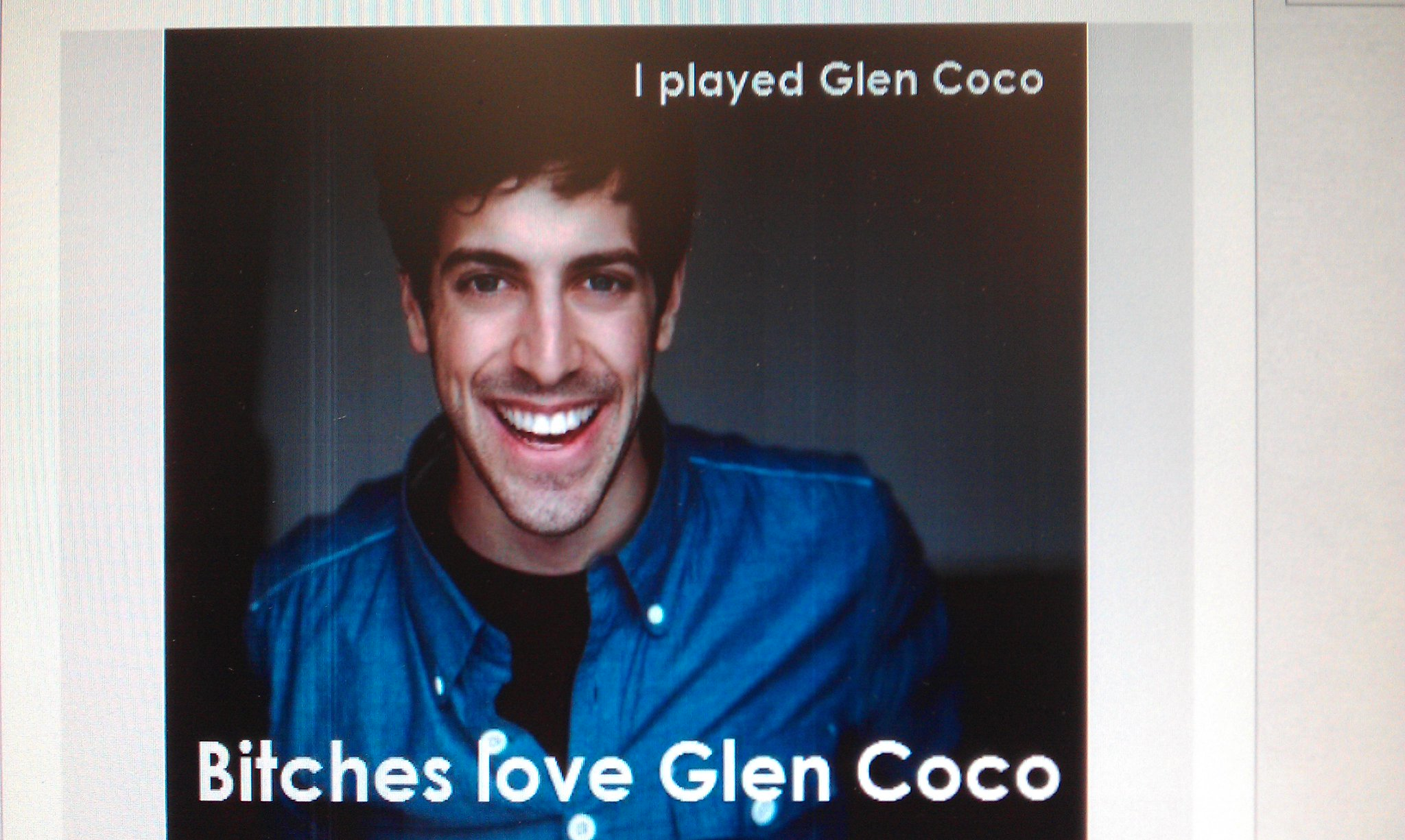 You go Glen Coco! http://t.co/bh0PMIt4