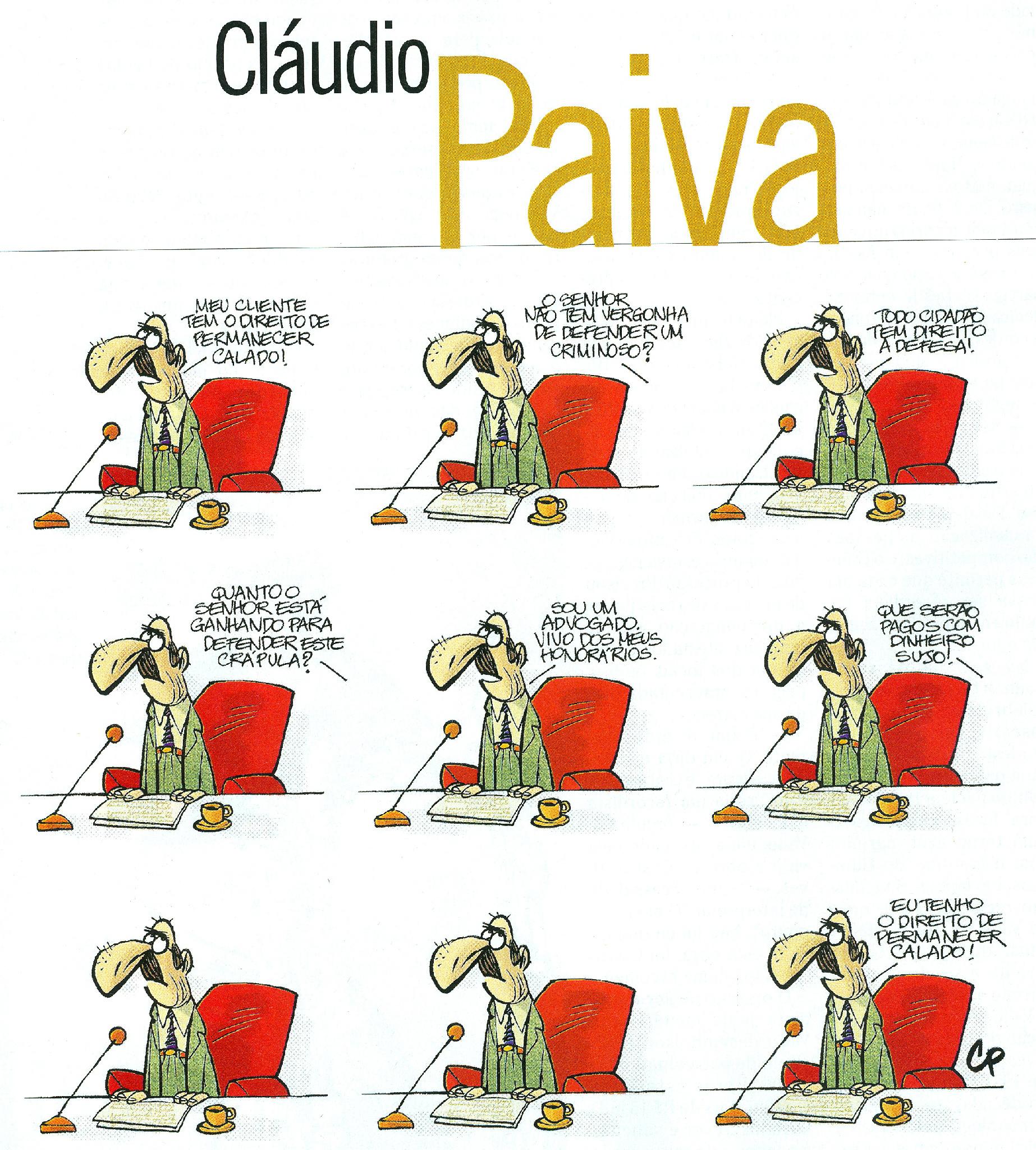 Genial desenho de claudio.paiva@oglobo.com.br na Revista do Globo de hoje. Adivinhem quem é o advogado... http://t.co/X8RnQ6Au