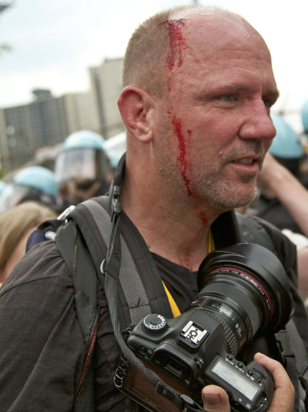 We carry cameras. They carry guns, batons, #LRAD's & marching orders from the 1%: http://t.co/brNuHcQT via @AmberLyon #NoNATO