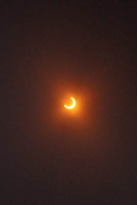 Quick pic of the solar eclipse just after the