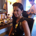 Getting ready for the green carpet @IIFA rocks!! #Singapore is awesome!