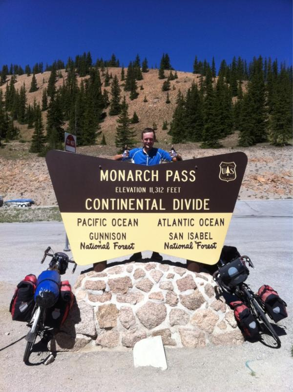 Crossed the Continental Divide at 11,312ft (3,448m)... It's all downhill from here, right? #acaWestExp