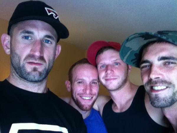 Joe Parker (@joeparkerxxx): At Parliament House w @CJParkerX  @Stevenponcepr  @BrianBondsXXX Yeah Bitch suck on it! http://t.co/qRurtP9p