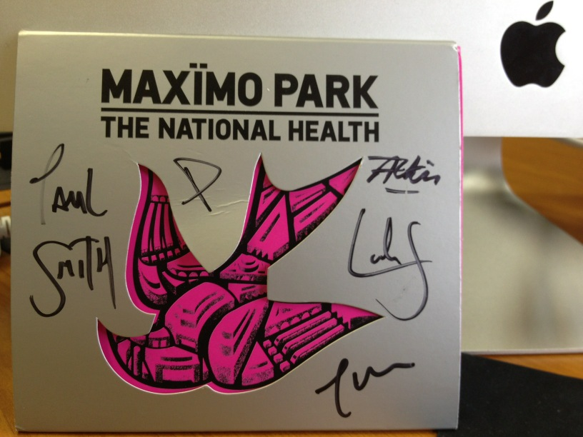 Now playing: Maxïmo Park - The National Health http://t.co/R7KLfg02