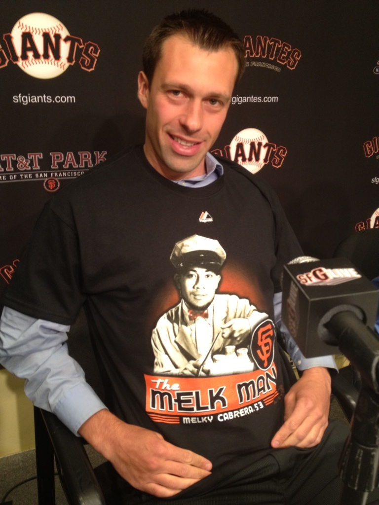 '@SFGiants: You need this shirt - the #MelkMan available at the #SFGiants Dugout http://t.co/qFXPleut' indeed