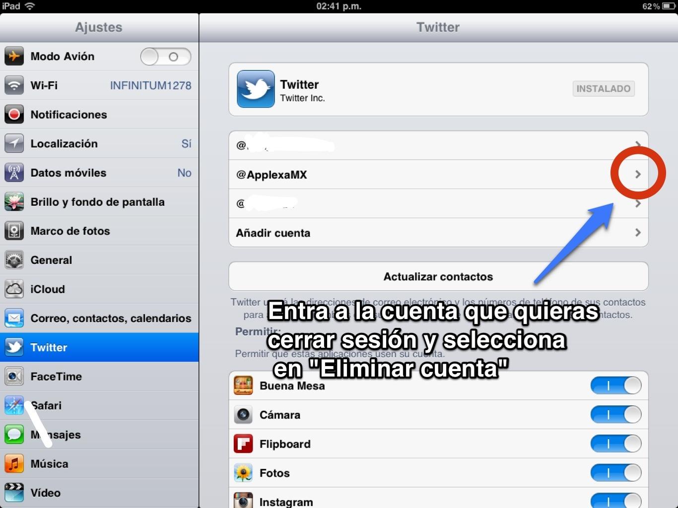Como cerrar sesión en Twitter desde un iPod Touch/iPhone/iPad #PreguntasFrecuentes http://t.co/A1oFn7nc