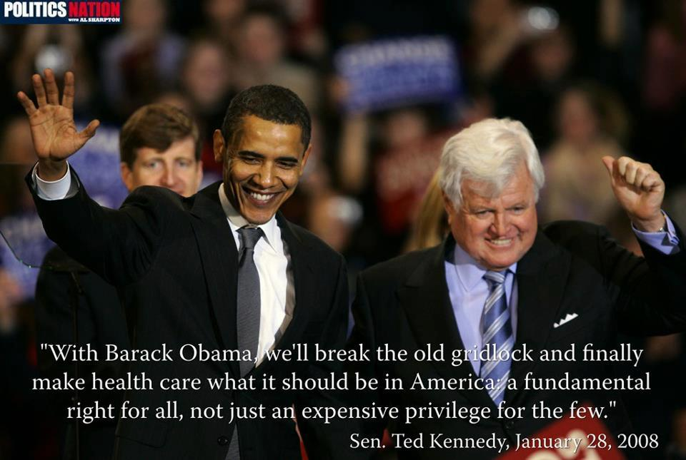 Congratulations Senator Kennedy, you finally got what you worked so hard for. you may rest in peace Obamacare stands http://t.co/N1aLT3hS