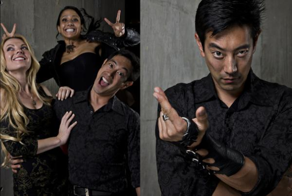 .@grantimahara's a #mythbusters magician! RT @allanamato: If this guy isn't a famous magician or superVillain... http://t.co/pBCPUrOi