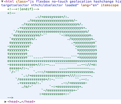 A+ to @BarackObama's hidden ascii art logo on his site. Obama's using jQuery 1.7, Romney's on 1.3.2. Mitt's old school http://t.co/kv6hpzSH