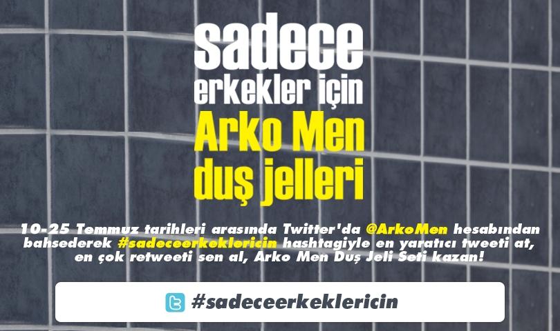 Muhteşem ödüller için @ArkoMen 'i mentionlayarak #sadeceerkeklericin hashtagiyle tweetlerinizi bekliyoruz! :) http://t.co/XKeFI7SA