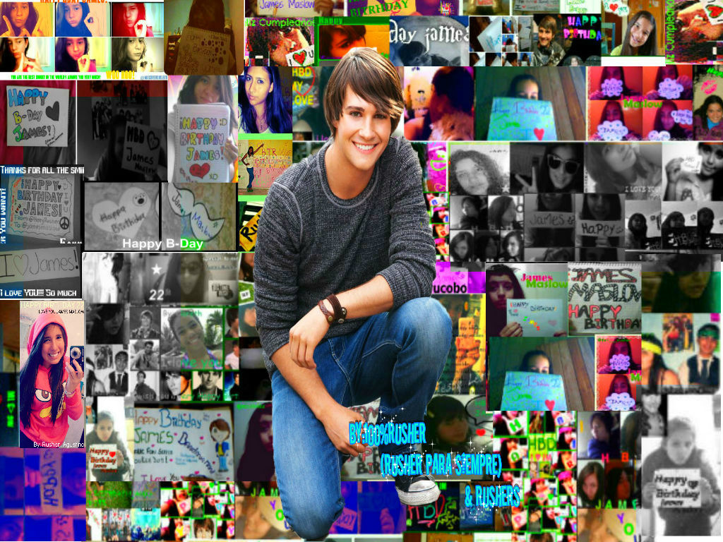 RT @allsamemistakes: Happy Birthday James Maslow. Over 100 rushers made it for you. like it? much love from Latin America :) http://t.co ...