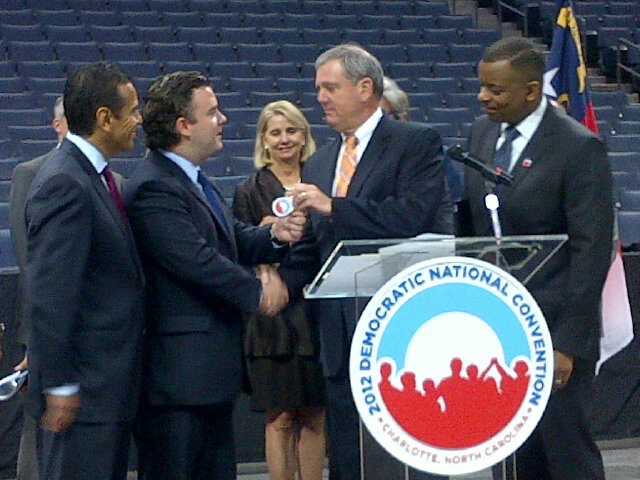 RT @JoyCookPR It's OFFICIAL the @DemConvention had taken over the @Twcarena #Charlotte #DNC2012 http://t.co/5rkMfWai