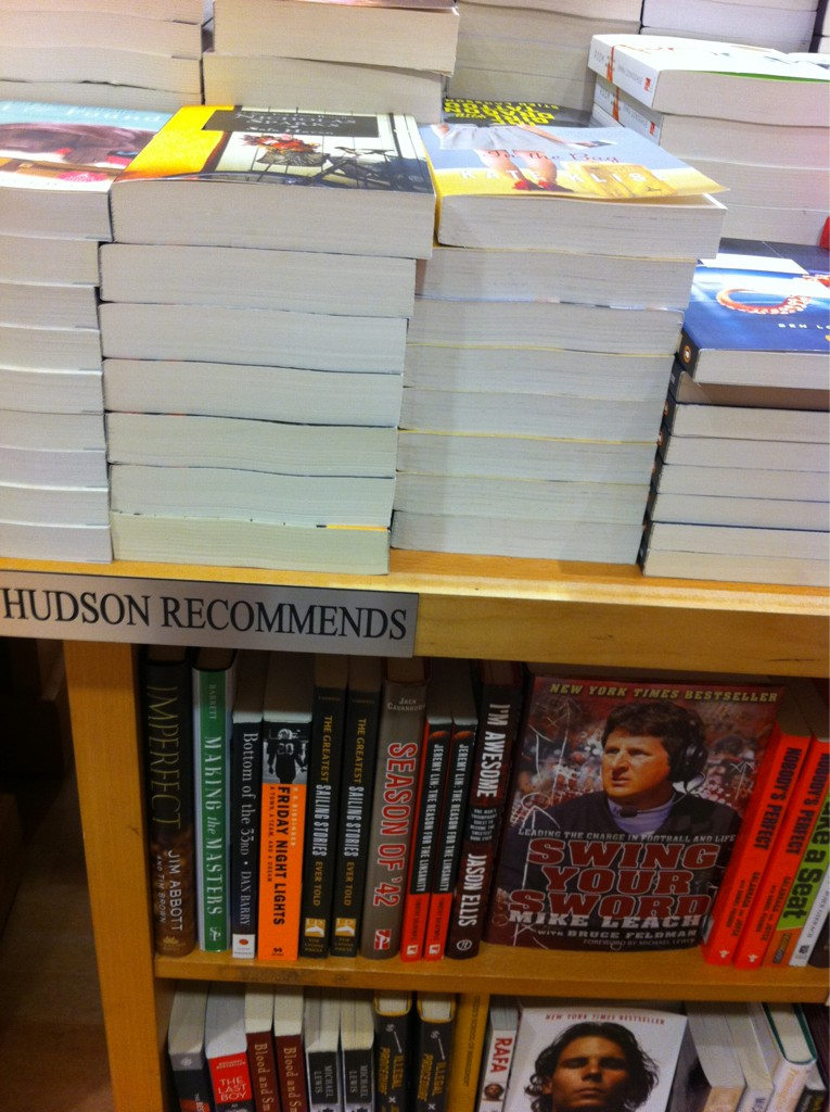 Thx @HudsonBooks at LAX for having Swing Your Sword. Made my morning! http://t.co/N8cChFJ2