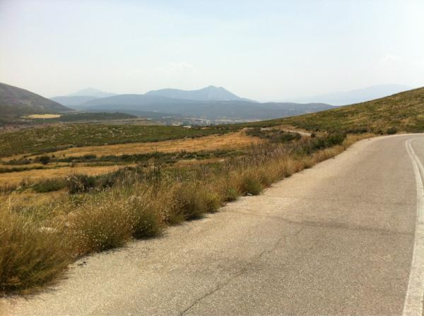 After 81 miles of mountains, dogs and 45 degree heat, we've finally made it to Delphi. 120km to ride tomorrow!
