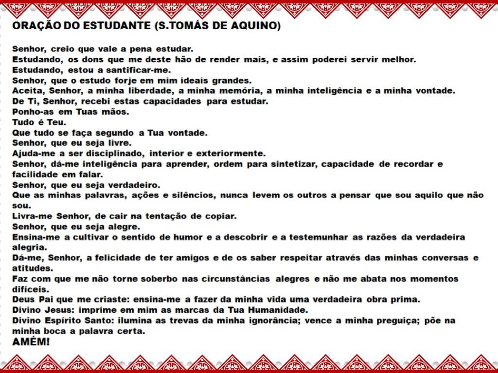 Dica para antes da prova: Oração do Estudante! @ProfFelipeLima http://t.co/IOgthJNN