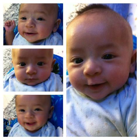 Kejapnyaaa dah 3 bulan. Tommeeeyyy RT @ctzanna: Darwisy Rayyan dah 3bulan....:). http://t.co/9h5MFXxJ
