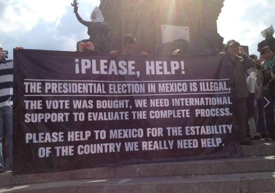 Please Help RT The Presidential Election in Mexico is illegal and bought! #elcciones2012 http://t.co/YPdMoIXF @Emma_Dawson1 @ABCWorldNews