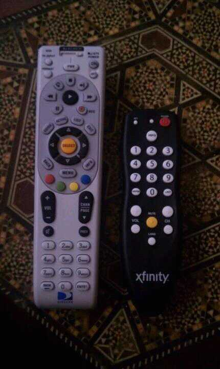 I hate comcast! They gone give me a lil ass remote ?? Ahah nahhh fuk that give me bak my directTv! http://t.co/PgVvvinw