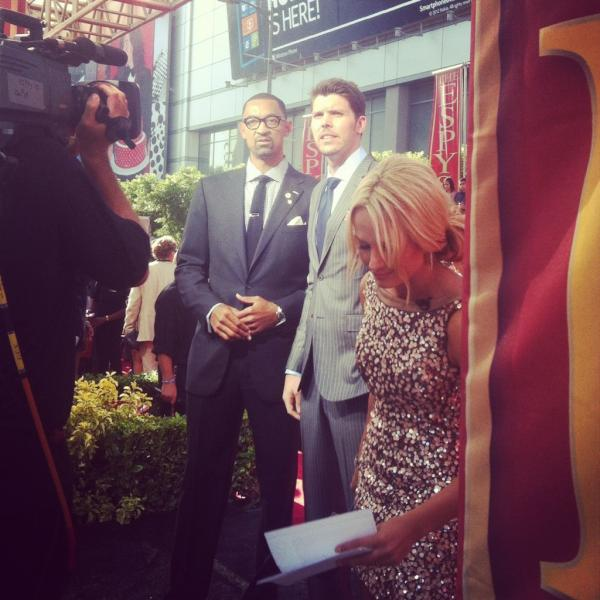 Jenine Howard (@J9Howard): Team #HEAT is in the building! #ESPYs VOTE!!!!!!! Shut the haters up please! http://t.co/0IvrAiLd