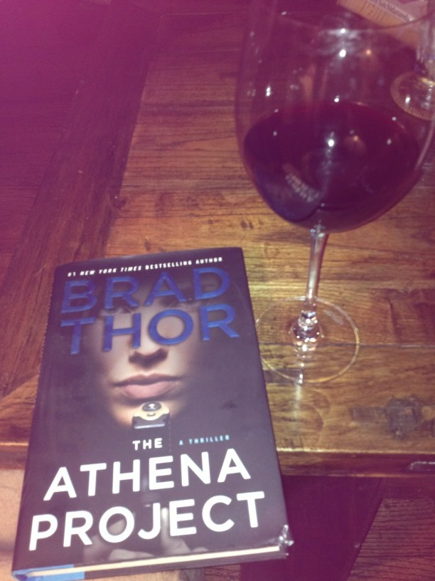@BradThor it would be an honor! @spencerpratt just handed #TheAthenaProject to me! Wine and female Delta Force! Amazing http://t.co/hnGY8WMT