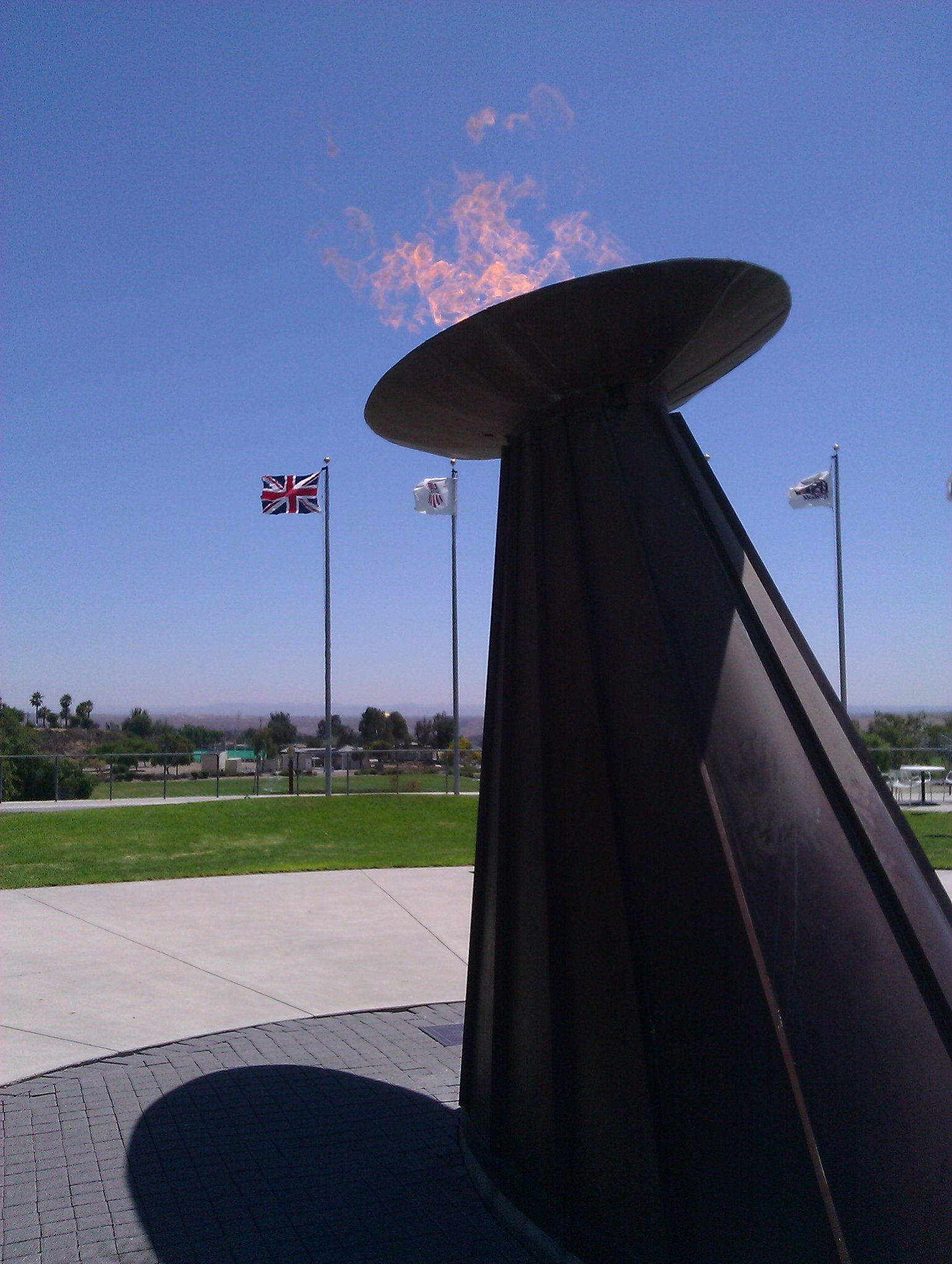 The @olympics torch is lit in #sandiego Olympic training center. #teamusa #excited http://t.co/yv8L20bb