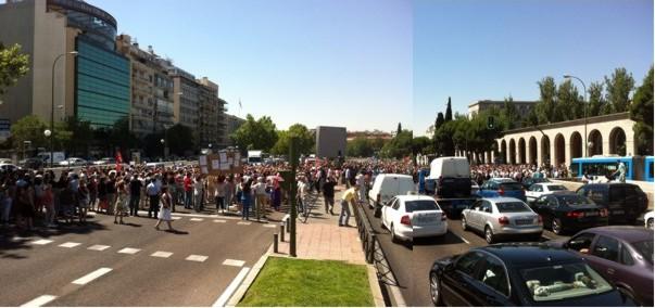 RT @manulucas77: #GraciasFuncionarios Por haber despertado. Paseo de la Castellana, 12:15. Ni 5 ni 6. Unas 4.000 personas. @acampadasol  ...