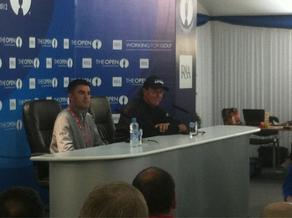Philly Mick addressing the world's media... #TheOpen http://t.co/uvOWYTzu